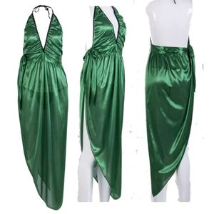 Beach Dress Cover   Sexyback One Size Green Wrap Around Summer Clothes